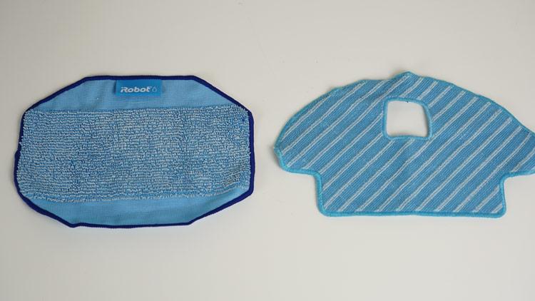 Wischtuchgroeße Braava 390t und-Deebot Ozmo 930 Vergleich