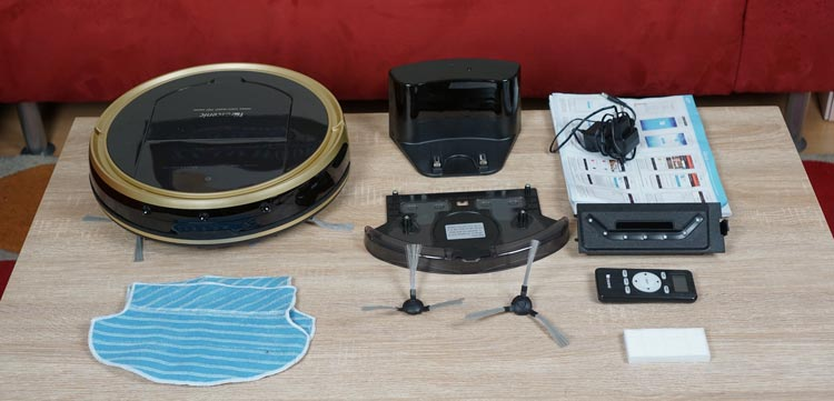 Seitenbuersten,-Wischtuecher,-Wassertank,-Hepa-Filter,-Vakuumaufsatz,-Roboter,-Fernbedienung