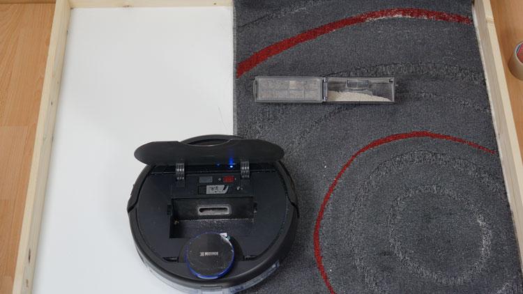 Deebot-Ozmo-930-Saugtest-Kurzfloor-nachher