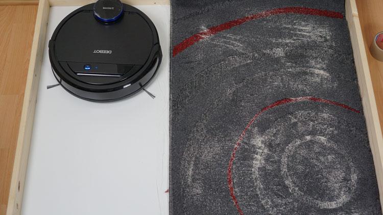 Deebot-Ozmo-930-Saugtest-Kurzfloor-vorher