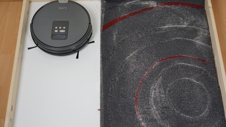 iLife-V80-Saugtest-Kurzfloor-vorher
