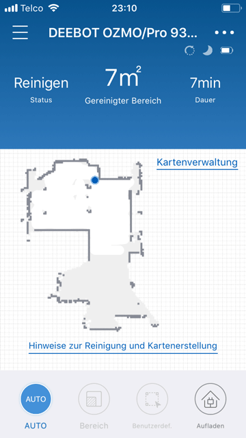 Screenshot-App-Kartenaufbau