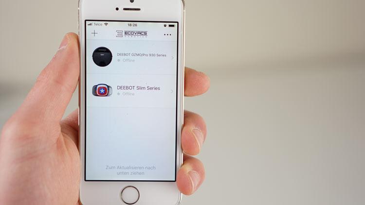 Wilkommenbildschirm-App-Ecovacs