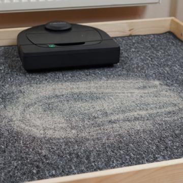 Neato D4 Teppich Saugtest vorher Galerie