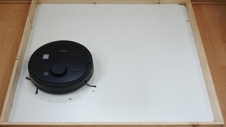 Ozmo 950 Hartboden Saugtest nachher