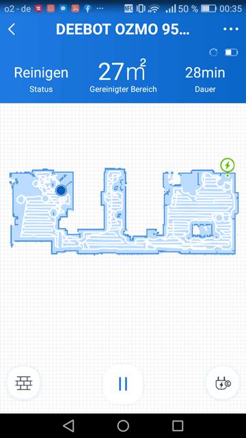 Sceenshot Ecovacs Home App Kartenansicht