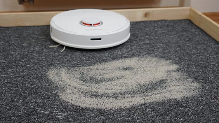 Teppich-Saugtest-vorher