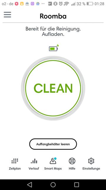 App-i7+-Robo-zur-Cleanbase-schicken