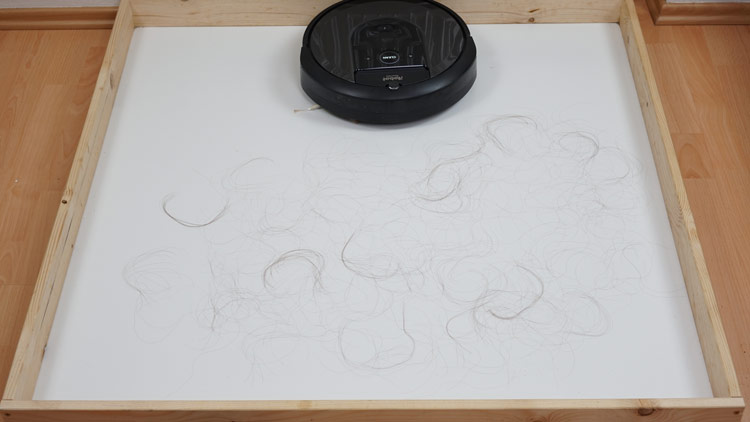 Haartest-Vorher