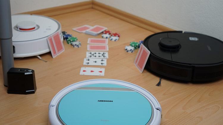 Saugroboter-Pokerrunde