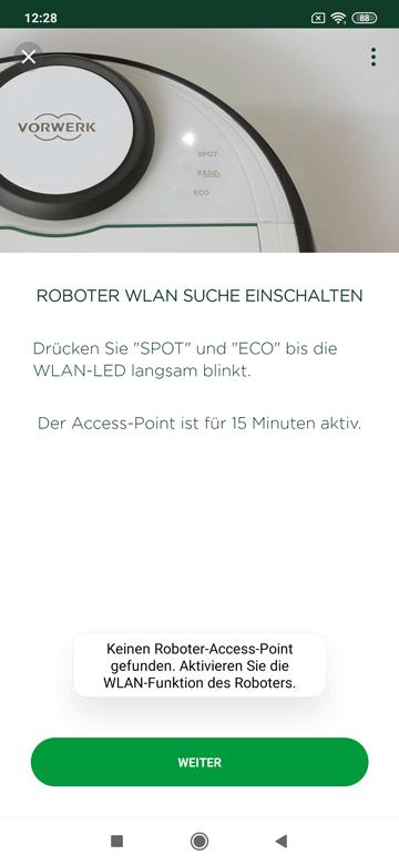 App Vorwerk Roboter WLAN