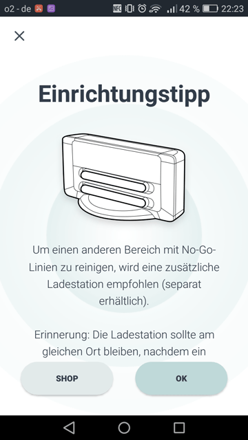 App Neato Tipps fuer Ladestation