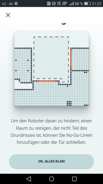 App Neato Tipps fuer Raumerstellung