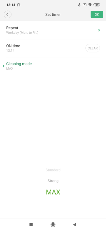 App Xiaomi Timer setllen