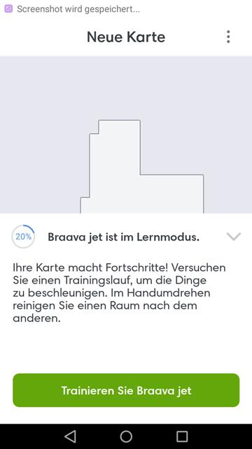 App iRobot Lernmodus