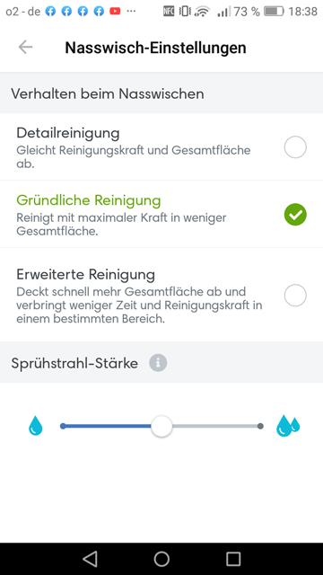 App iRobot Nasswischeinstellung 3