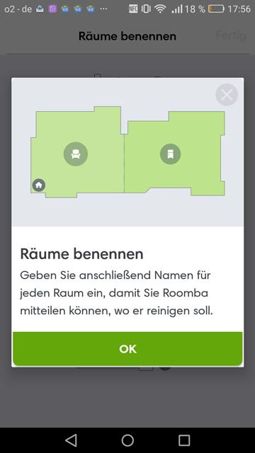App iRobot Raum benennen
