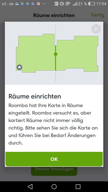 App iRobot Raumeinrichtung