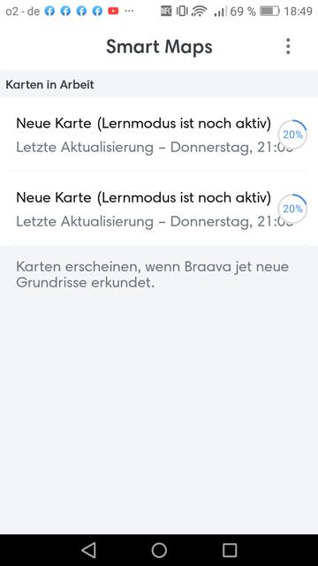 App iRobot Traingsfahrt