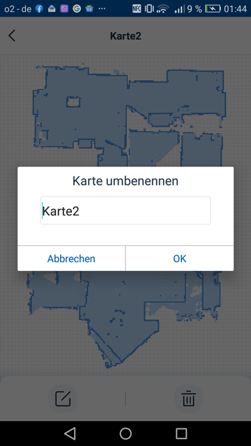 Ecovacs App Umbenennung der Raeume