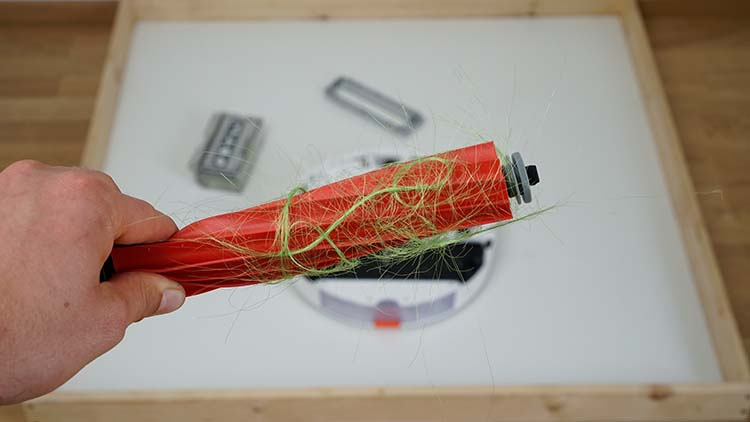 Roborock Saugroboter Gummibürste mit Haaren