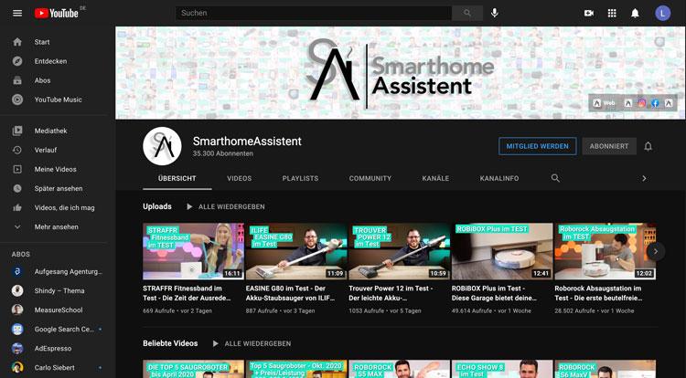 Smarthomeassistent-YouTube