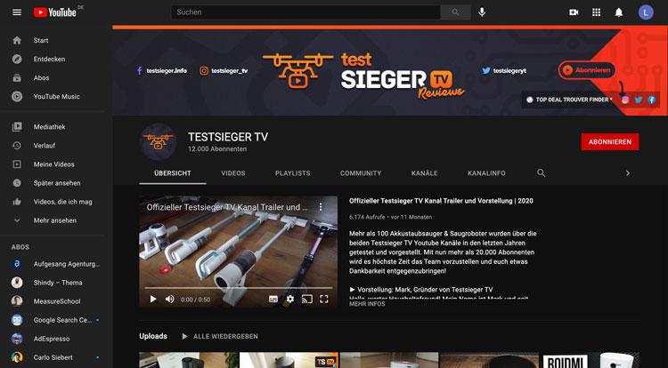 Testsieger-TV-YouTube